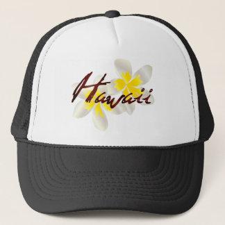 Hawaii Plumeria Flowers Trucker Hat