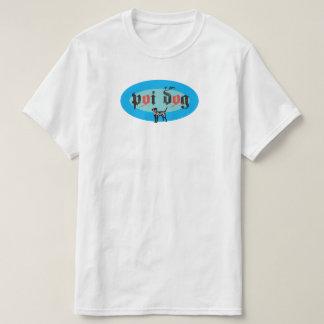 Hawaii Poi Dog Blue Oval T-Shirt