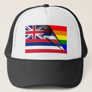 Hawaii Rainbow Flag Trucker Hat