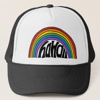 Hawaii Rainbow Trucker Hat