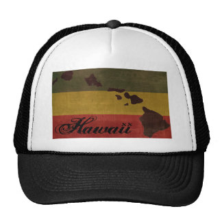 Hawaii Rasta Trucker Hat