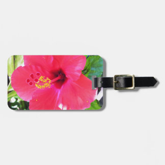 Hawaii Red Hibiscus Flower Bag Tag
