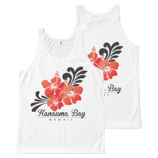 Hawaii Red Hibiscus Flowers All-Over-Print Tank Top