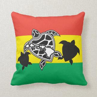 Hawaii Reggae Turtle Throw Pillow