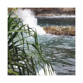 Hawaii Rushing Water Cascade Canvas Print