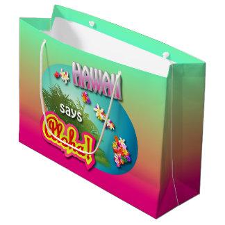 Hawaii Says Aloha! Large Gift Bag