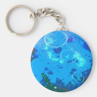 Hawaii scuba diver basic round button keychain