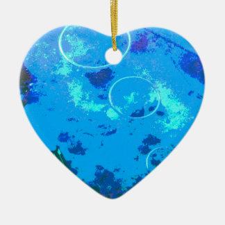 Hawaii scuba diver ceramic heart ornament