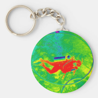 Hawaii Scuba Diver Keychain