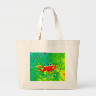 Hawaii Scuba Diver Large Tote Bag