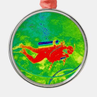 Hawaii Scuba Diver Metal Ornament
