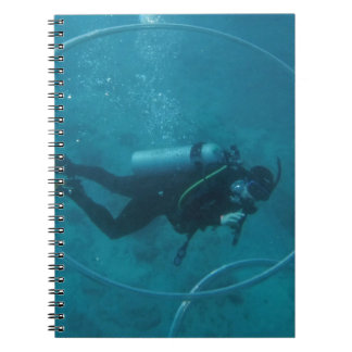 Hawaii scuba diver notebook