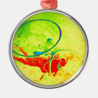 Hawaii scuba diver Silver-Colored round ornament