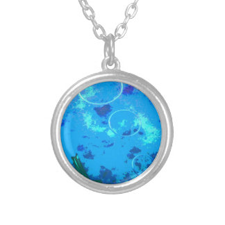 Hawaii scuba diver silver plated necklace