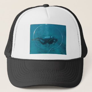 Hawaii scuba diver trucker hat