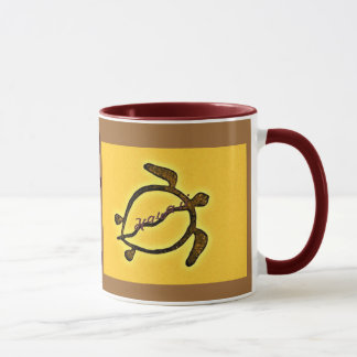 Hawaii Sea Turtle Petroglyph Mug
