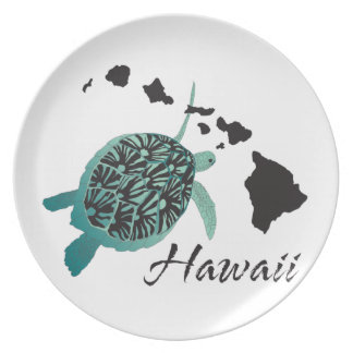 Hawaii Sea Turtle Plate