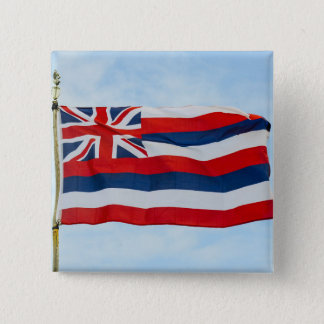 Hawaii State Flag 2 Inch Square Button