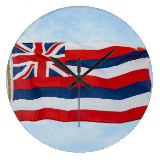 Hawaii State Flag Large Clock