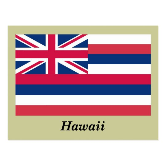 Hawaii State Flag Postcard