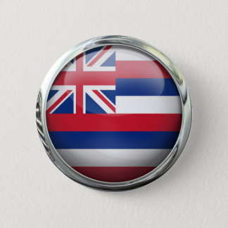 Hawaii State Flag Round Glass Ball 2 Inch Round Button