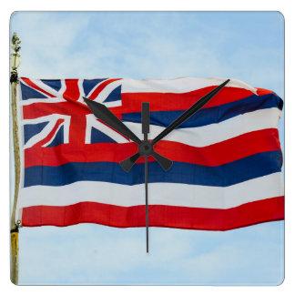 Hawaii State Flag Square Wall Clock