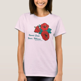 Hawaii State Flower, Hibiscus T-Shirt