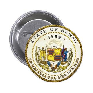 Hawaii State Seal 2 Inch Round Button
