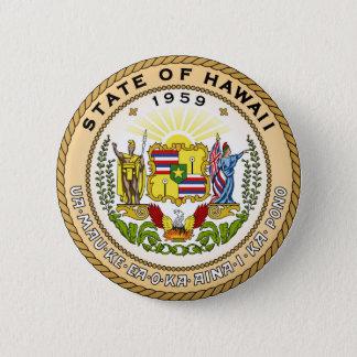 Hawaii state seal america republic symbol flag 2 inch round button