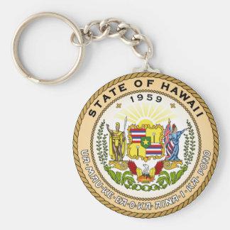 Hawaii State Seal Basic Round Button Keychain