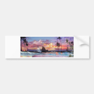 Hawaii Sunset Bumper Sticker Car Bumper Sticker