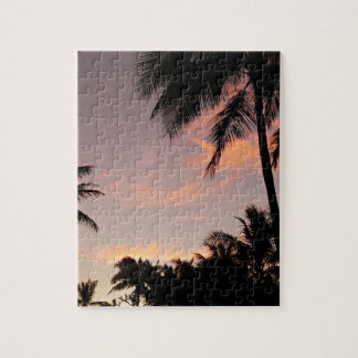 Hawaii sunset palm tree puzzle