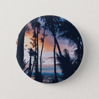 Hawaii Sunset Paradise 2 Inch Round Button