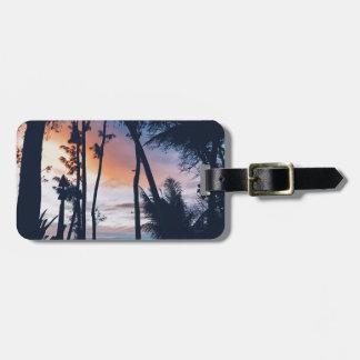 Hawaii Sunset Paradise Bag Tag