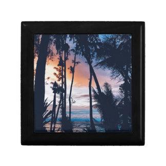 Hawaii Sunset Paradise Trinket Box