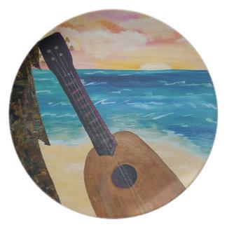 hawaii sunset plate