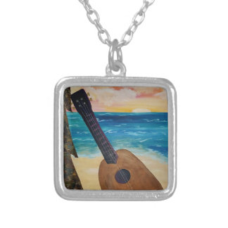 hawaii sunset silver plated necklace