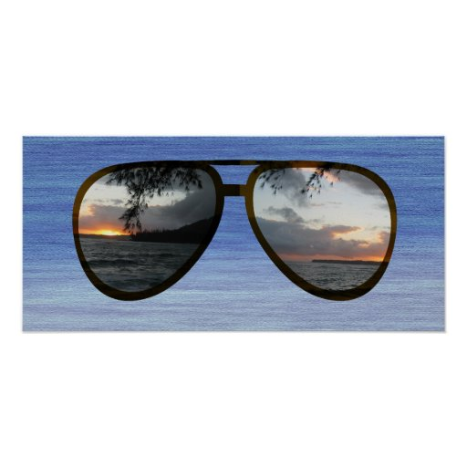 Hawaii Sunset Sunglasses Print
