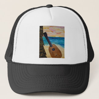 hawaii sunset trucker hat
