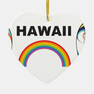 hawaii surf boards ceramic ornament