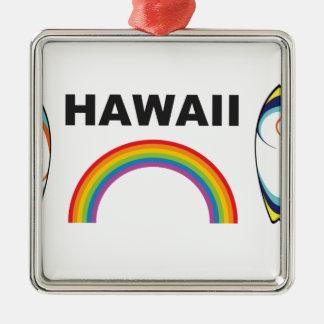 hawaii surf boards metal ornament