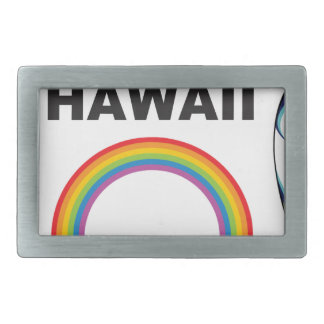 hawaii surf boards rectangular belt buckle