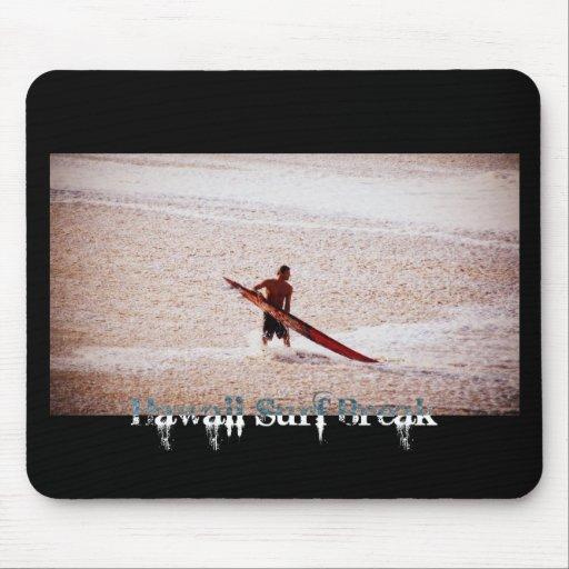 Hawaii Surf Break Surfs Up Mousepads