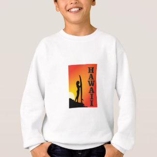 Hawaii surf girl sweatshirt