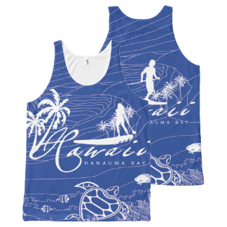Hawaii Surfing and Diving All-Over-Print Tank Top