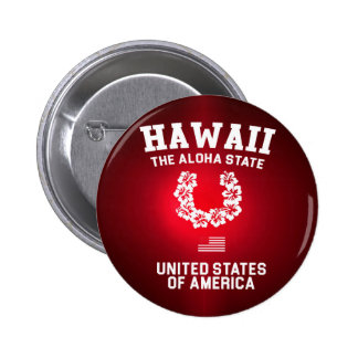 Hawaii The Aloha State 2 Inch Round Button