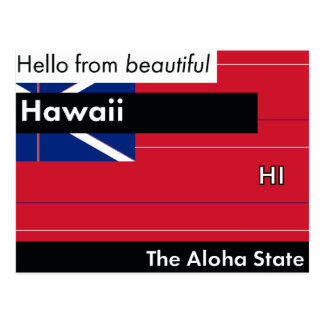 Hawaii The Aloha State Postcard