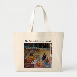 Hawaii : The Painted Church Large Tote Bag