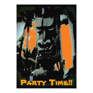 Hawaii tiki theme customizable invitations