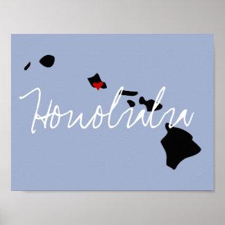 Hawaii Town Poster